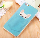 FD2971 Anti Scratch Pocket Dog Embossed Protecter Case Cover For Apple Iphone ✿
