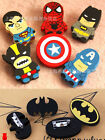 4pcs DC Comic Marvel Legends Hero Avenger Funny Wooden Pinback Pins Badge Brooch