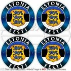 ESTONIE ESTONIA EESTI Estonien Vinyle Autocollant 50mm x4