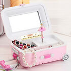 New Lovely Suitcase Music Box Dancing Classic Jewelry Gift Play Ballerina