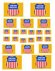 "SHEET OF UNION PACIFIC STICKERS  (8.5"" X 11"") S scale"