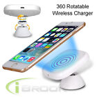 Magnetic Rotate Qi Wireless Car Charger Charging Pad Holder for SAM S6 S7 Edge
