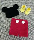 Handmade Crochet  Mickey Mouse Set *You Choose Size* Photo Prop*
