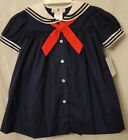 Petit Ami 2160N Navy Sailor Dress w White Collar & Navy Braid, Girl's 3-9 M ...