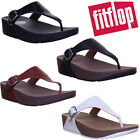 FitFlop  The Skinny  Leather Toe-Post Black Size UK 3 - 8