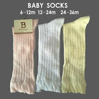 Kids Infant Baby Girls High Knee Socks Cotton Socks Tights Leg Warmer 0-36months