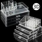 3 Storage Drawers Clear Cosmetic Jewellery Rack Makeup Organizer Box Case Holder