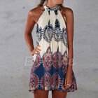 Summer Beach Short Mini Sleeveless Boho Dress Sexy Women Party Evening Cocktail