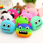 Women Girls Wallet Kawaii Cartoon Animal Silicone Jelly Coin Bag Purse Kids LA