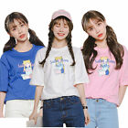 2016HOT Women Simple Style Short Sleeve Sailor Moon Pattern T-Shirt Tops Blouses
