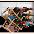 3/6/10 Grid Wooden Wine Bottle Holder Adjustable Organizer Kitchen Shelves Rack