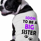 Soon To Be A Big Sister Dog Shirt Doggy Announcement Clothing