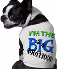 I'm The Big Brother Stamp Dog Shirt Personalized Fun Doggy Clothing