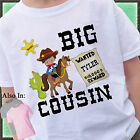 COWBOY BIG COUSIN SHIRT PERSONALIZED WITH NAME HORSE SHERIFF OUTLAW