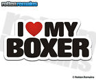 Boxer I Love My Dog Decal Dogs Sign Vinyl Car Truck Window Sticker HGV