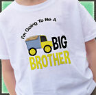 DUMPTRUCK I'M GOING TO BE A BIG BROTHER SHIRT PERSONALIZED CONSTRUCTION