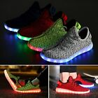 LED-Paare Männer Frauen High Light Up Flache Schnürschuhe Sneakers Luminous