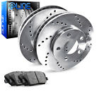 For Land Rover Range Rover Evoque Rear  Drilled Brake Rotors+Semi-Met Brake Pads