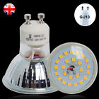 1/4/10X GU10 7W=60W 25SMD LED Bulbs Warm / Day White Light Downlight Glass Cover
