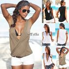 Casual Women's Chiffon V-Neck Vest Top Loose Sleeveless Tank Tops T-Shirt Blouse