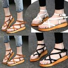 New Simple Stylish Strap Womens Low Heels Sandle Shoes Multi Colored