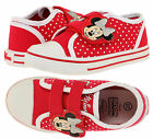 Girls Official Disney Minnie Mouse Trainers New Kids Red Velcro Shoes UK 7.5-12