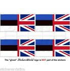 ESTONIE - UK Drapeau Britannique union jack 50mm Autocollant Stickers x4