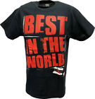 CM Punk Best In The World Logo WWE Mens Black T-shirt