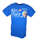 Ric Flair For President Mens WWE Blue T-shirt