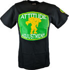 John Cena Green Logo Black T-Shirt Attitude Adjustment Mens