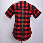 Hip Hop Men Long Extended Swag Tops For Tyga Zipper Men Hipster Plaid Tees