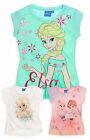 Girls Disney Frozen T-Shirt New Kids Short Sleeved Cotton Tops Ages 4-10 Years