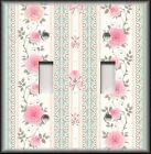 Switch Plate Cover - Pink Green Lacey Victorian Rose - Home Decor/Nursery Decor