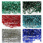 600 Glass Rocaille Seed  6/0 Silver Lined Red Clear Cobalt Blue Teal Dark Green