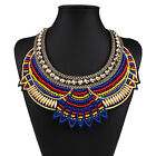 Womens Lady Crystal Plain Charm Choker Boho Bib Statement Necklace Pendant Chain
