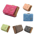 Womens Vintage Layers Suede Fabric Zipper Chic Design Card Wallets