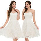 GK Lace Satin Ball Cocktail Evening Prom Party Dress Bridesmaids Floral Wedding