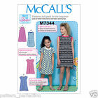 McCall's 7344 Easy Sewing Pattern to MAKE Girls' Raglan Sleeve Knit Dresses