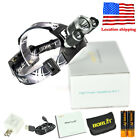 13000LM 3xXM-L T6 LED Headlamp Hunting Head Torch Light Flashlight 18650 Charger