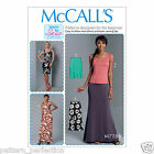 McCall's 7386 Sewing Pattern to MAKEMisses' Knit Tank Top, Dresses and Skirts