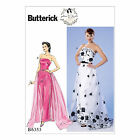 Butterick 6353 Easy Sewing Pattern to MAKE Strapless Dress Detachable Train