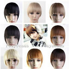 Lady Straight Clip On Clip In Front Hair Bangs Fringe Hair Extension 8 Colors FB