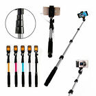 Wired Selfie Sctick Handheld Remote Shutter Extendable Monopod For Samsung S6 S5
