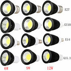 Dimmable GU10/MR16/GU5.3/E27/E14/B22 6W 9W 12W LED Spot Lights Bulbs White Lamps
