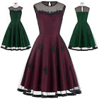 BP Vintage Retro 50s Pinup Swing Evening Prom Cocktail Party Dress N/T Taffeta
