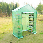 Portable Greenhouse Walk In Green House Outdoor Year Around Plant Gardening