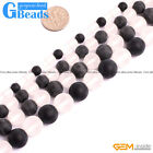 """Natural Stone Matte Frost Agate Round Beads For Jewelry Making Free Shipping 15"""""""