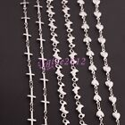 New Charm Womens Silver Stainless Steel Heart/Cross/Dolphin Link Necklace 18inch