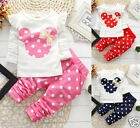 Newborn Baby Girls Minnie Mouse Outfits Clothes T shirt Tops Long Pants 2PCS Set