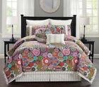12 Piece Palermo Floral Bed in a Bag w/600TC Cotton Sheet Set